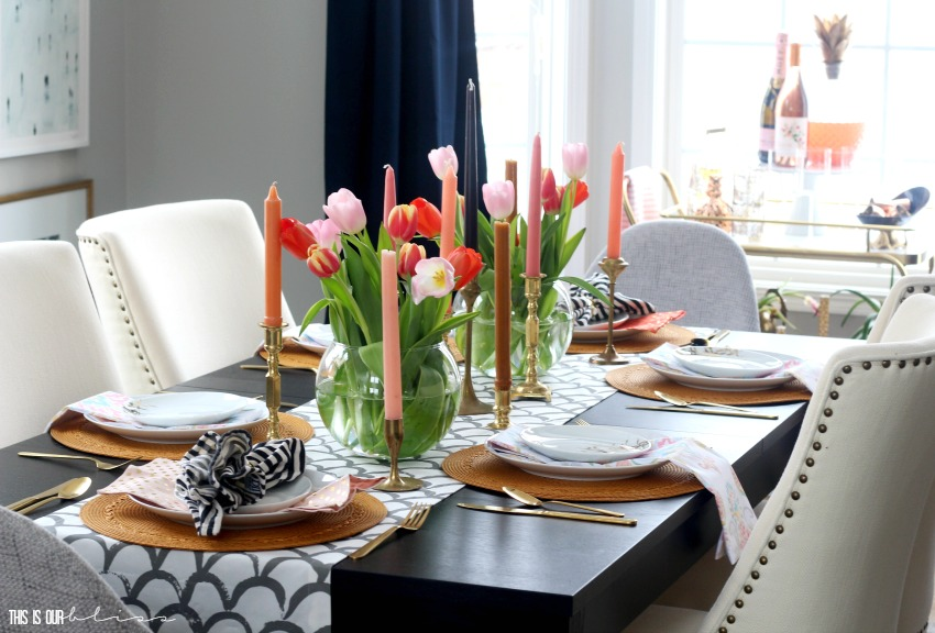 A Tulips & Tapers Spring Tablescape
