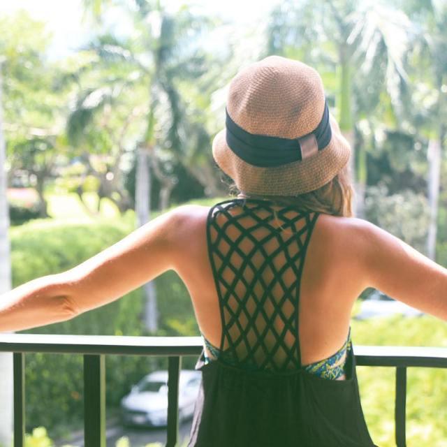 Summer weekend wear  pool wear! Swimsuit coverup hat flipshellip