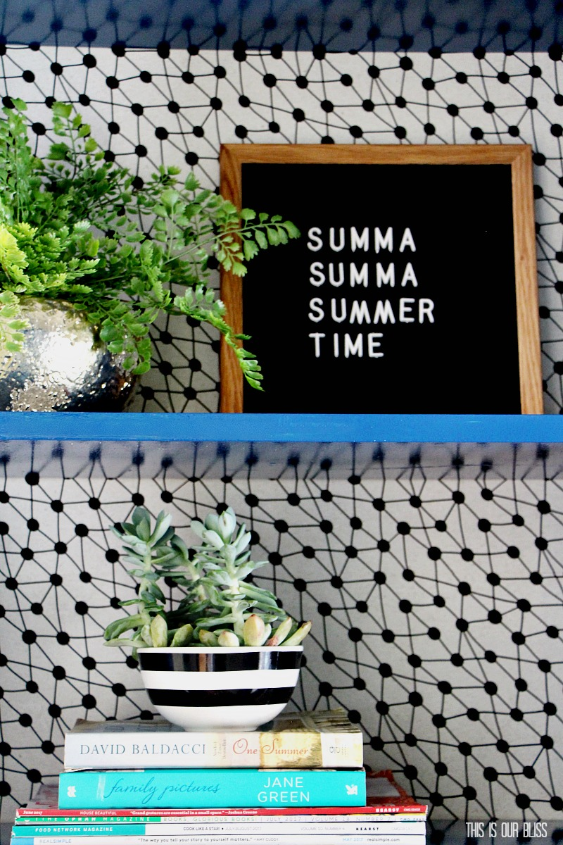 IKEA Hack  Bookcase Makeover with Wallpaper  Paint