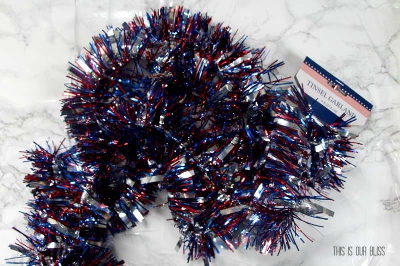 Festive & Frugal 4th of July | Red, White & Blue Confetti Star Wine Glass | My Dollar Store DIY | www.thisisourbliss.com