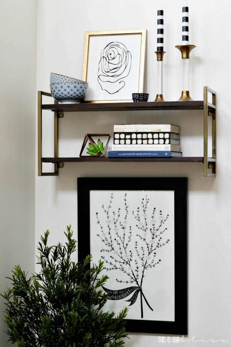 How to Style a Floating Shelf - 5 Simple Tips!