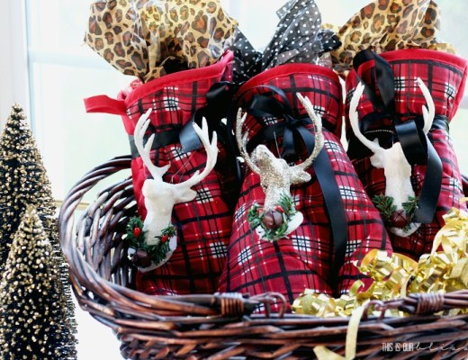5 Minute Holiday Hostess Gift using Dollar Store Supplies - Cute, Affordable & festive gift idea!