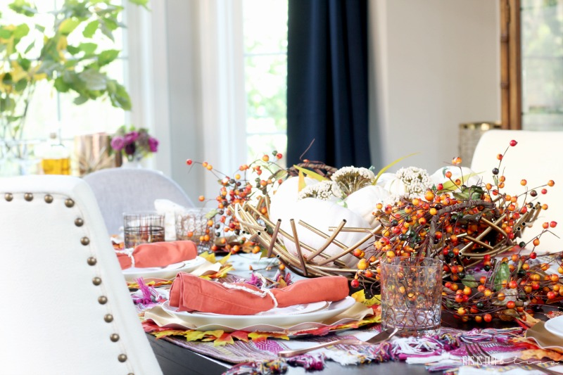 A Burnt Orange & Berry Fall Tablescape