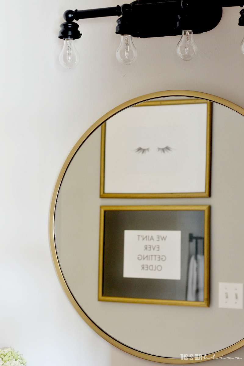 Pretty in Pink Powder Room Refresh | $100 Room Makeover Challenge | Budget Bathroom decorating