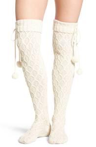 Sparkle Cable knit socks