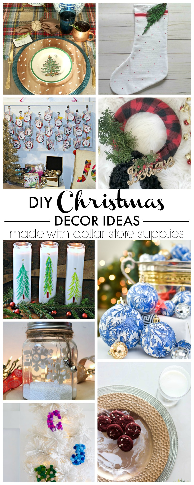 Make Dollar Store Christmas Tree Candles easily with a dollar store candle and a few permanent marker sharpies!