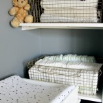 Nursery Closet Storage And Organization Gold Wire Baskets That Stack For Blankets And Diapers This Is Our Bliss This Is Our Bliss