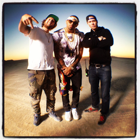 Chris Brown Don't Wake Me Up Video Shoot