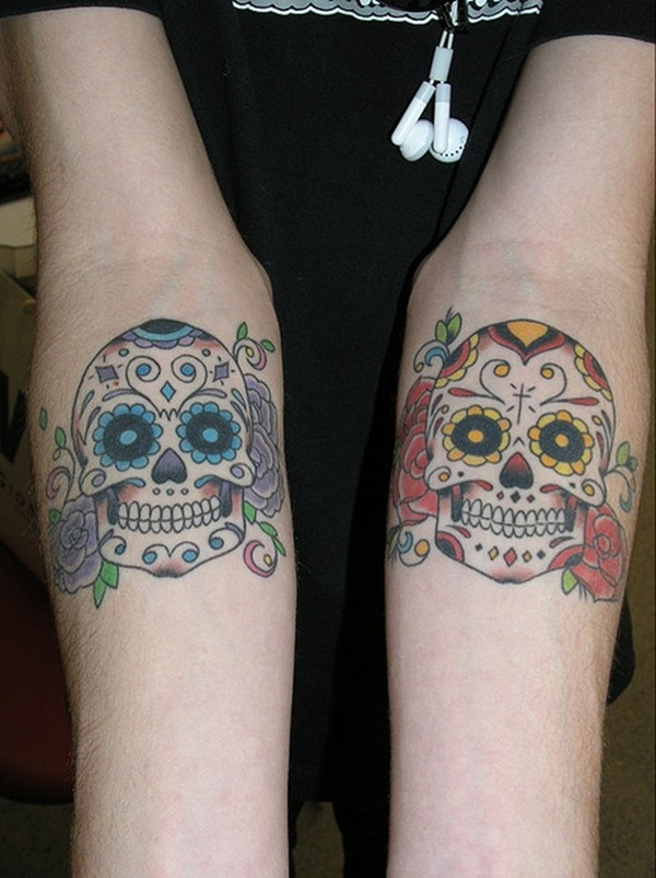 20 Boy And Girl Matching Skull Tattoos Ideas And Designs