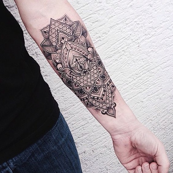 Mandala Wrist Tattoo Drawing