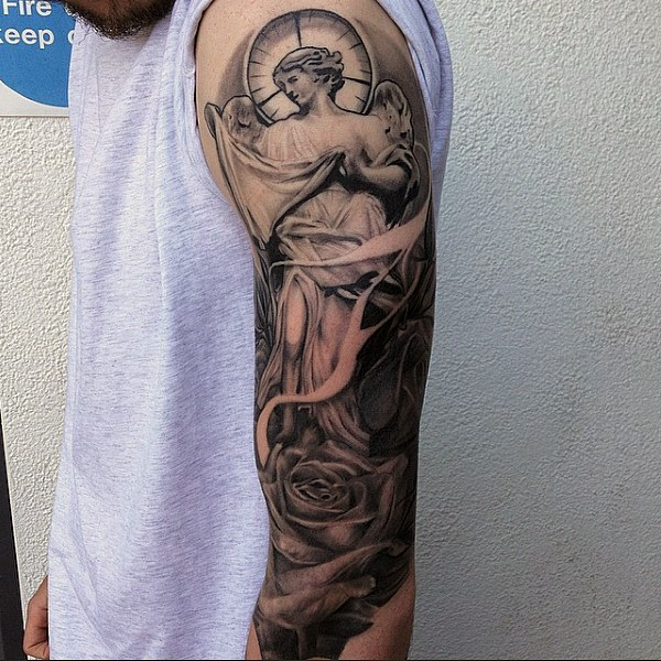 Religious Masculine Small Tattoos For Men