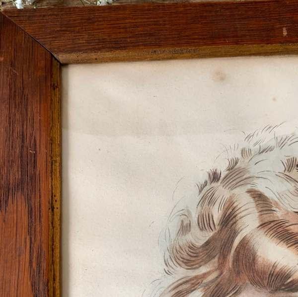 ancien dessin art déco femme