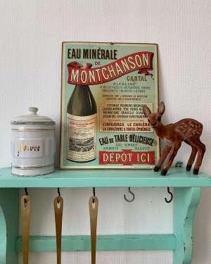 ancienne publicité d'eau minérale
