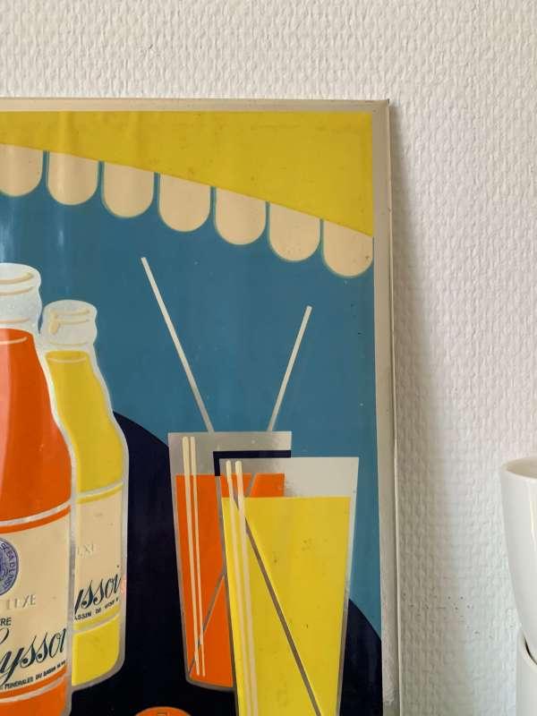 ancienne publicité de soda en carton