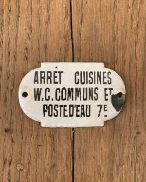 plaque emaillée ancienne cuisine