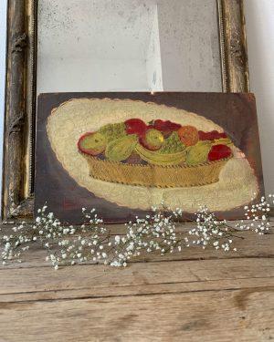 ancienne peinture à l'huile fruits