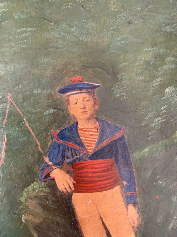 ancienne peinture à l'huile