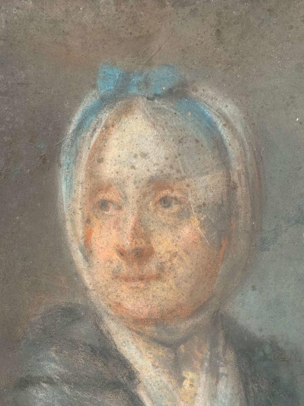 ancien portrait de femme pastel