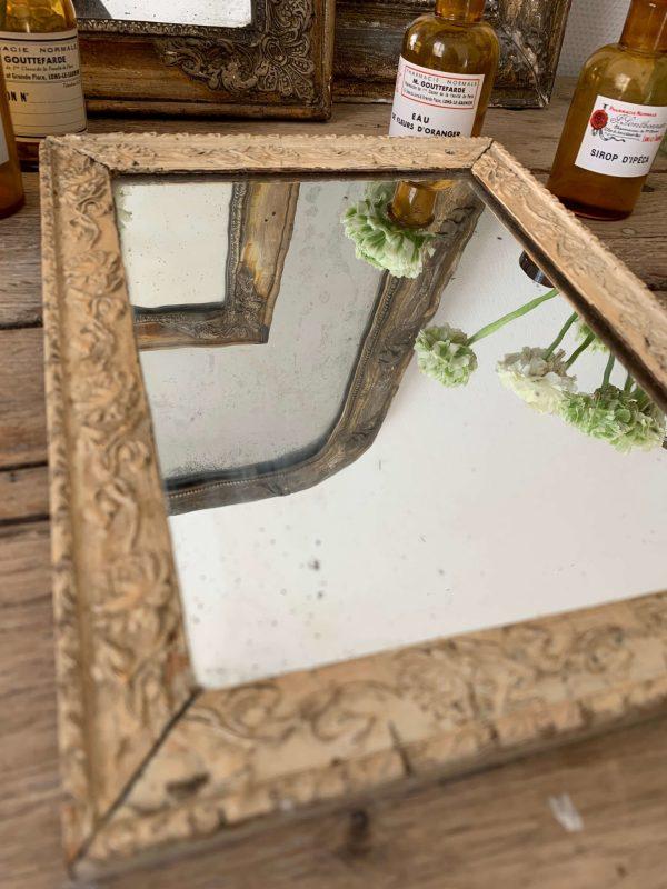 ancien miroir moulures 19eme