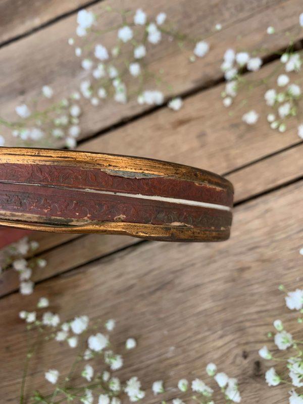 ancienne boite à dragés 19ème en fixé sous verre