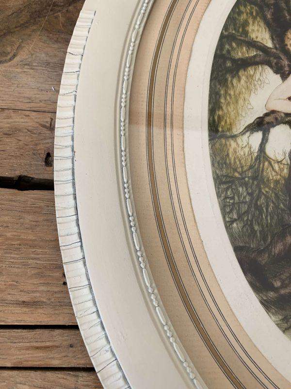 ancienne gravure art déco femme signée dorval
