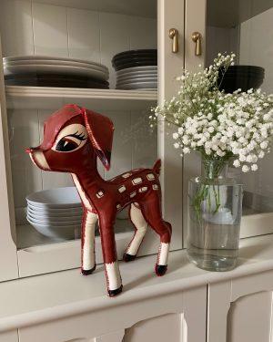 ancienne poupée bambi disney skine vintage