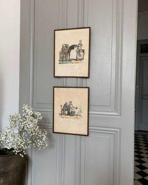 ancienne lithographie moeurs parisiennes 19eme