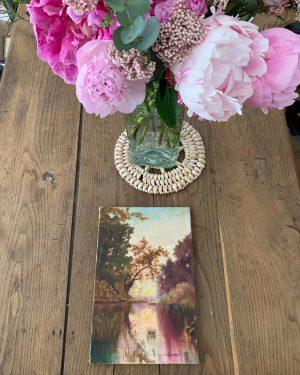 ancienne huile sur toile paysage début 20ème
