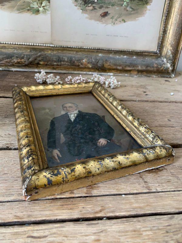 ancien portrait à l'huile portrait homme 1856