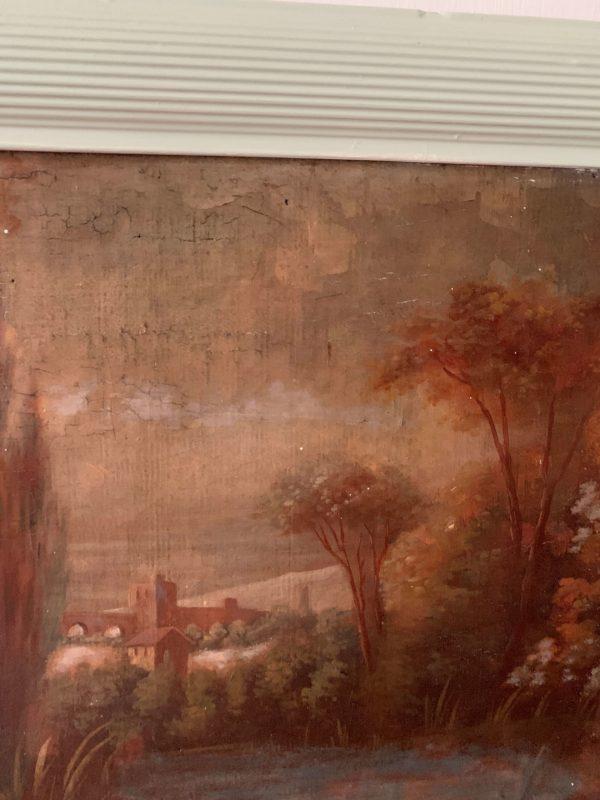 ancien trumeau 19eme huile sur toile