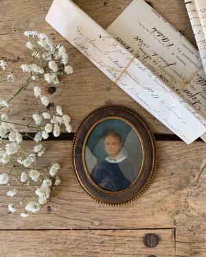 Portrait miniature 18ème