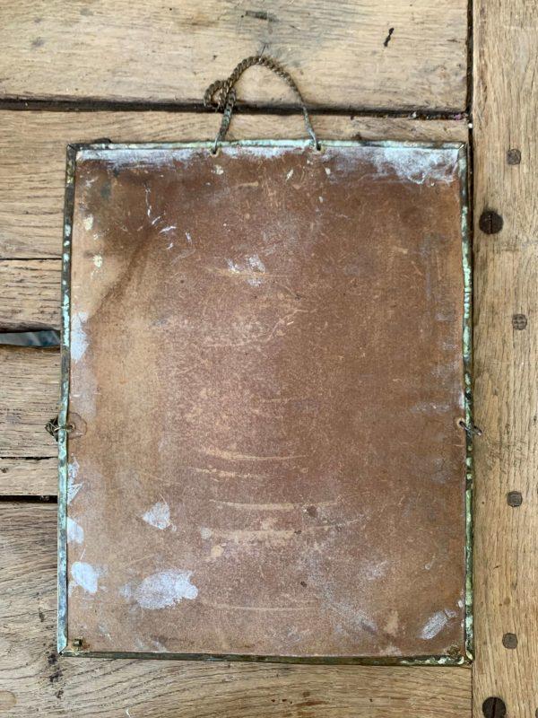 ancien porte documents en laiton oiseaux hirondelles