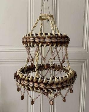 ancienne suspension coquillage vintage
