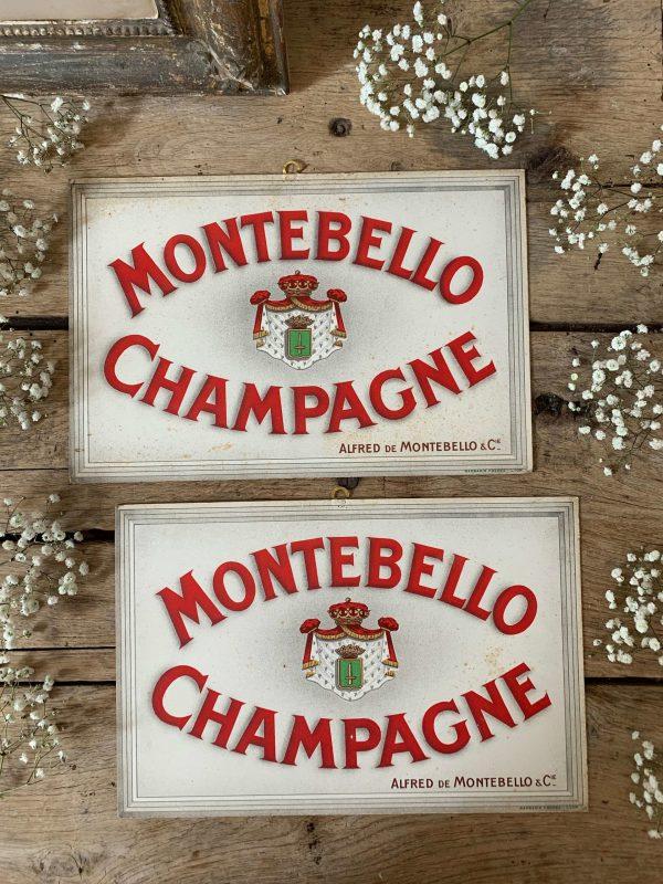 ancienne pub de champagne cartonnée