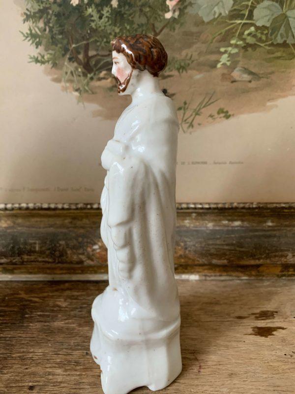 ancien saint joseph en porcelaine 19eme