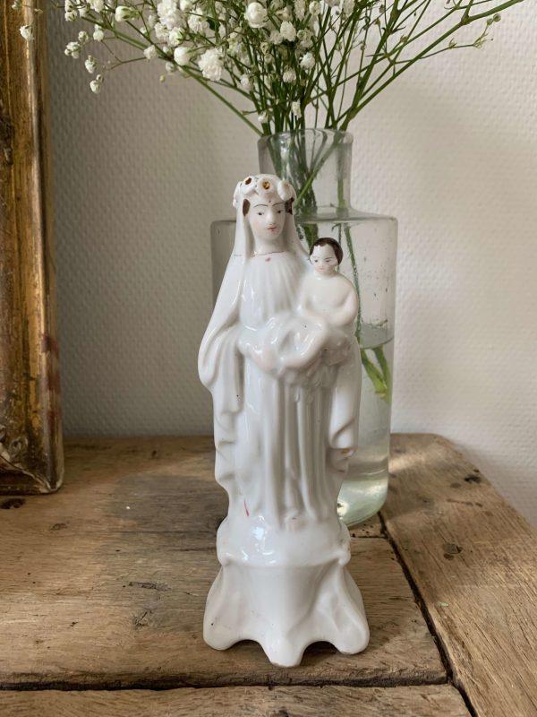 ancienne vierge en porcelaine de paris 19ème