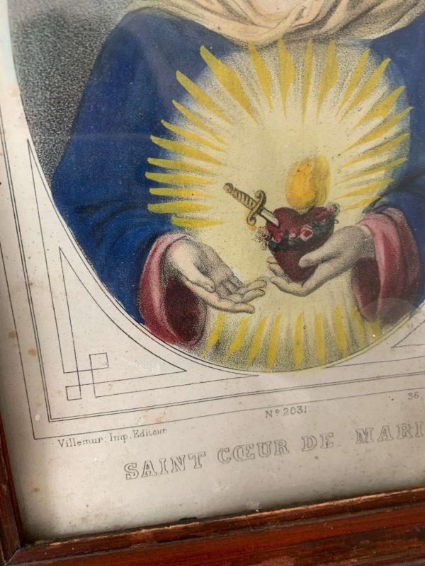 ancien cadre vierge gravure ancienne