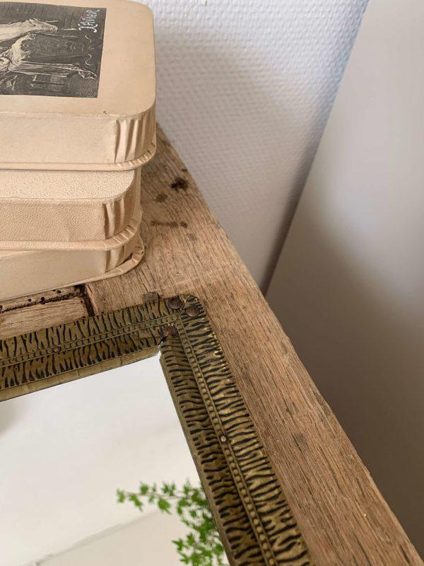 ancien porte brosses en laiton deécor d'oiseaux art nouveau
