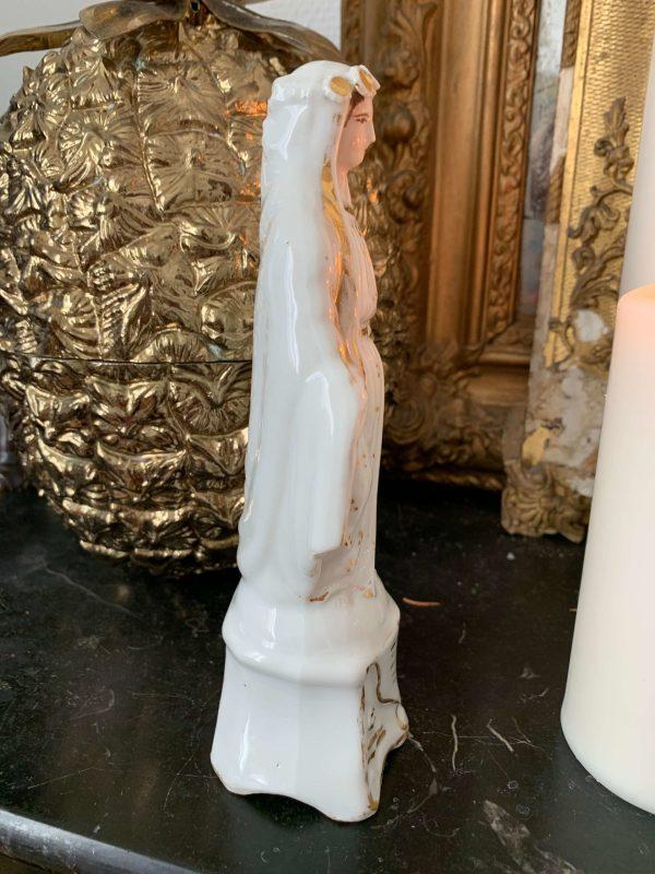 ancienne vierge en porcelaine de paris xixeme siècle miraculeuse