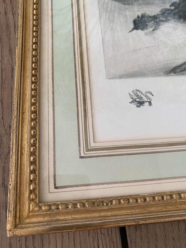 ancienne gravure femme nues baigneuses par pierre gandon art deco