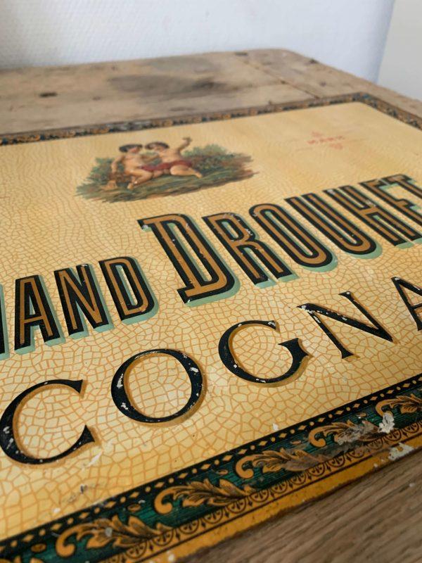 ancienne publicité en tole embossée cognac ferdinand drouhet