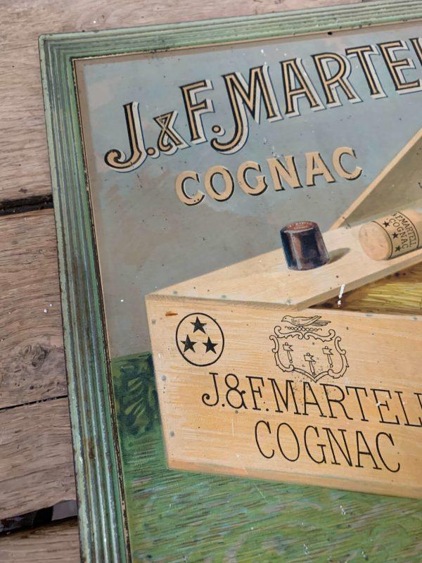 ancienne publicité en tole embossée cognac jf Martell