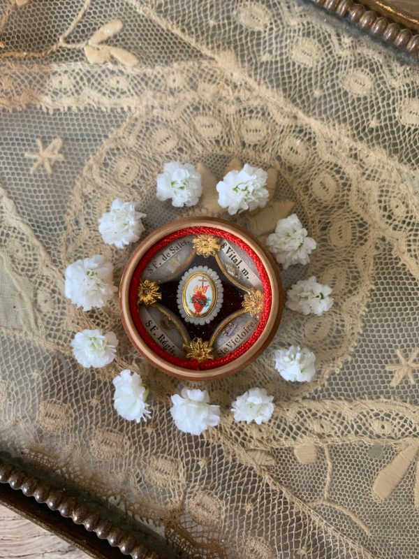 ancien reliquaire boite fin xixeme trois saints