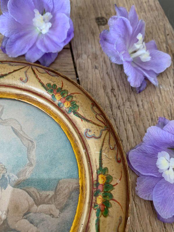 anciens cadres anges lithographie cadres peints fleurs en bois xixeme
