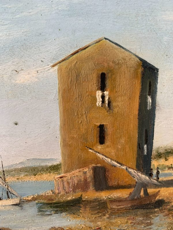 ancienne peinture à l'huile tableau marine nerlow