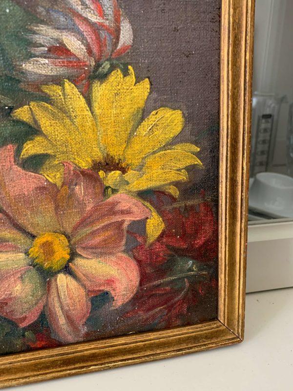 ancienne peinture de fleurs