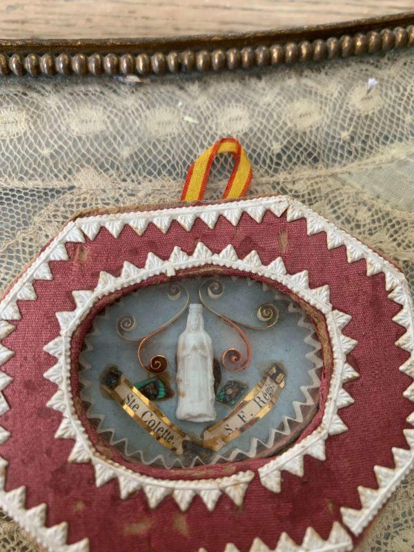 ancien reliquaire xixeme