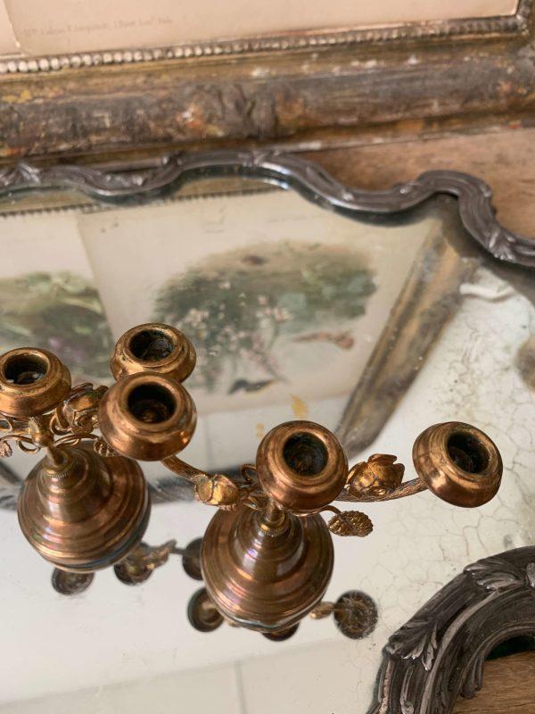 anciens chandeliers miniatures autel