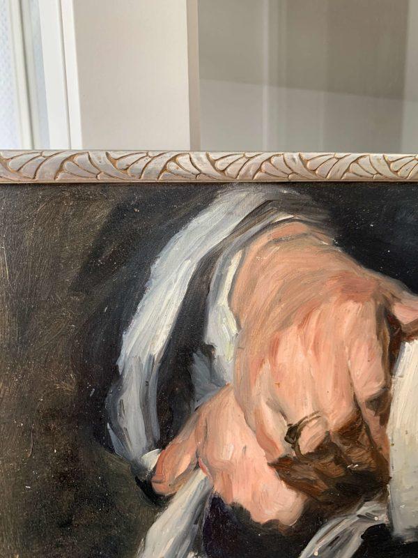 ancienne peinture à l'huile mains