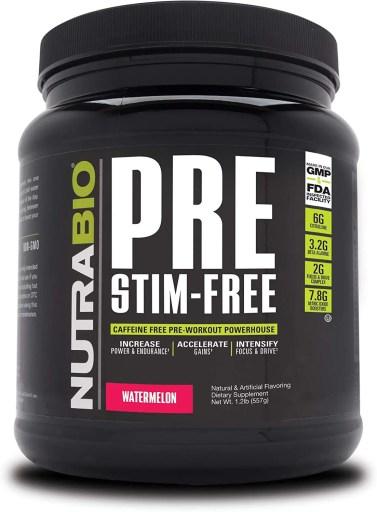 NutraBio Pre Stim-Free
